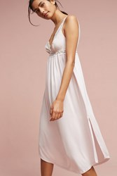 Anthropologie Eberjey Kiss The Bride Long Chemise Pink