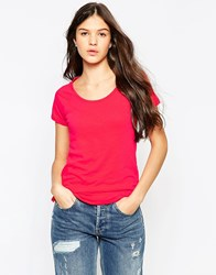 Sundry Short Sleeve Raglan Crew Neck T Shirt Cherry Pink