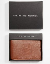French Connection Colour Pop Leather Wallet Brown
