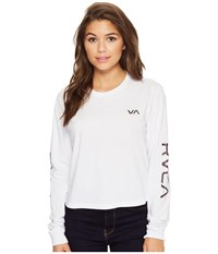 Rvca Glitch Long Sleeve White Women's Clothing