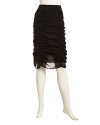 Nola Z Yvette Ruched Pull On Skirt Black