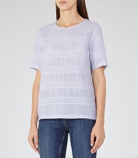 Reiss River Womens Panelled Jersey T Shirt In Blue