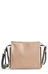 Cxl By Christian Lacroix 'Avery' Leather Crossbody Bag Beige Taupe Bone Black