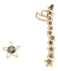 Inc International Concepts Gold Tone Stone Stud And Climber Mismatch Earrings Created For Macy's Gold Multi
