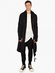 Thom Krom Black Cotton Jersey Long Cardigan