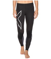 2Xu Wind Defence Compression Tights Black Steel Women's Workout