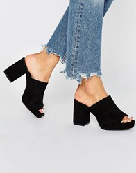 Truffle Collection Platform Mule Black Micro