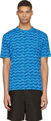 Marc By Marc Jacobs Blue Electric Ikat T Shirt