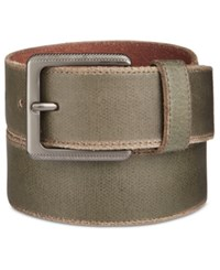 Calvin Klein Men's Canvas Printed Leather Belt Cargo