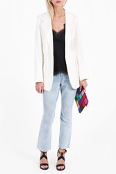 Helmut Lang Women S Patch Pocket Blazer Boutique1 White