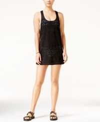 Roxy Crochet Sporty Tank Cover Up Women's Swimsuit Black