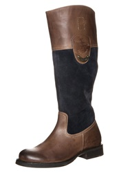 Tom Tailor Boots Brown Navy Cognac