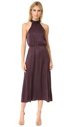 Zimmermann Sueded Picnic Dress Burgundy