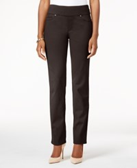 Charter Club Cambridge Pull On Slim Leg Jeans Only At Macy's Rich Truffle