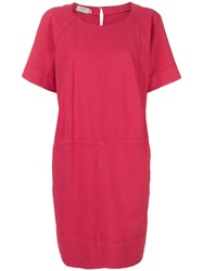 Barba Loose Fit Dress Pink And Purple