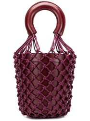Staud Net Layered Bucket Bag Purple