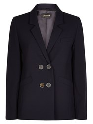 Jaeger Double Breasted Blazer Midnight Blue