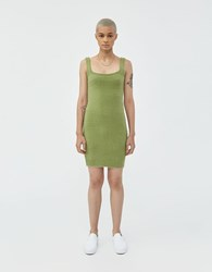 Which We Want Dylan Fuzzy Dress Sage