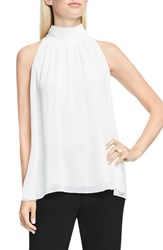 Vince Camuto Women's Shirred Neck Halter Blouse New Ivory
