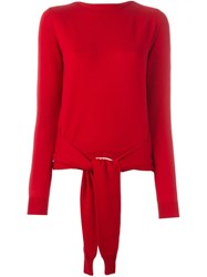 Maison Martin Margiela Mm6 Front Knot Jumper Red