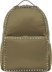 Valentino Army Green Studded Backpack