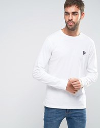Penfield Plano Long Sleeve Top Small P Logo In White White