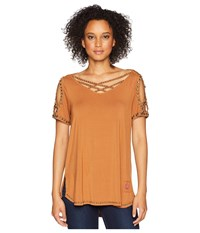 Double D Ranchwear Love Peace Top James Brown Clothing