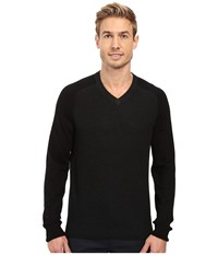 Perry Ellis Color Block V Neck Sweater Black Heather Men's Sweater