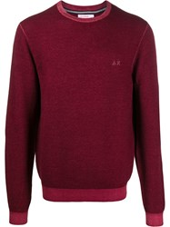 Sun 68 Vintage Look Jumper Red