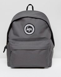 Hype Exclusive Script Strap Backpack In Gray Gray