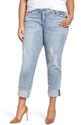 Kut From The Kloth Plus Size Women's Catherine Fray Hem Distressed Boyfriend Jeans