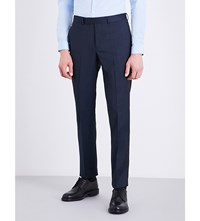 Sandro Tapered Tailored Fit Wool Trousers Midnight Blue