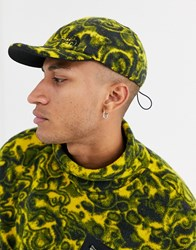 The North Face 94 Rage Reverse Cap In Black Leopard Yellow