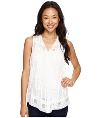 Karen Kane Embroidered Lace Top Off White Women's Blouse
