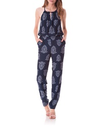 Sam Edelman Printed Jumpsuit Navy