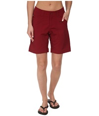 Royal Robbins Backcountry Walker Black Cherry Women's Shorts Burgundy