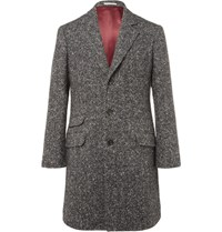 Brunello Cucinelli Herringbone Virgin Wool And Cashmere Blend Coat Gray