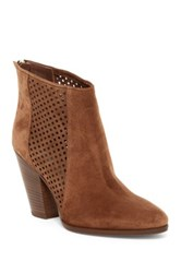 Diane Von Furstenberg Auletta Perforated Bootie Brown
