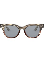 Ray Ban Meteor Stripped Sunglasses Grey