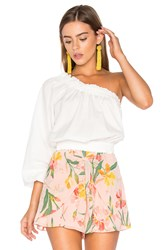 Free People Anabelle Asymmetrical Top White