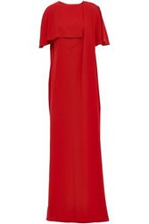 Chalayan Woman Cape Effect Draped Satin Crepe Gown Red