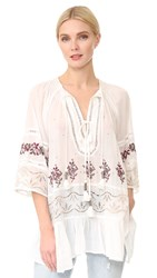 Free People You're Mine Peasant Blouse Ivory Combo