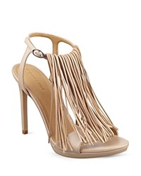 Kendall And Kylie Kendall Kylie Aries Fringe High Heel Sandals Dark Natural