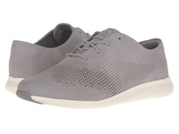 Cole Haan 2.0 Grand Laser Wing Oxford Ironstone Nubuck Ivory Women's Lace Up Casual Shoes Gray