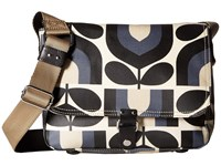 Orla Kiely Matt Laminated Stripe Tulip Print Small Satchel Dusk Satchel Handbags Pink