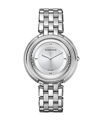 Versace Ladies Thea Watch With Chain Link Strap Silver