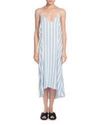 Striped Cady Cami Dress Light Blue White Light Blue White