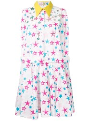 Delpozo Allover Stars Print Dress White
