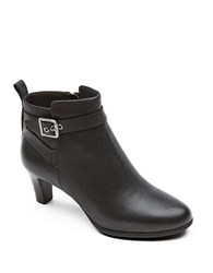 Rockport Melora Leather Ankle Boots Black