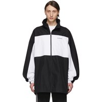 Balenciaga Black And White Zip Up Jacket